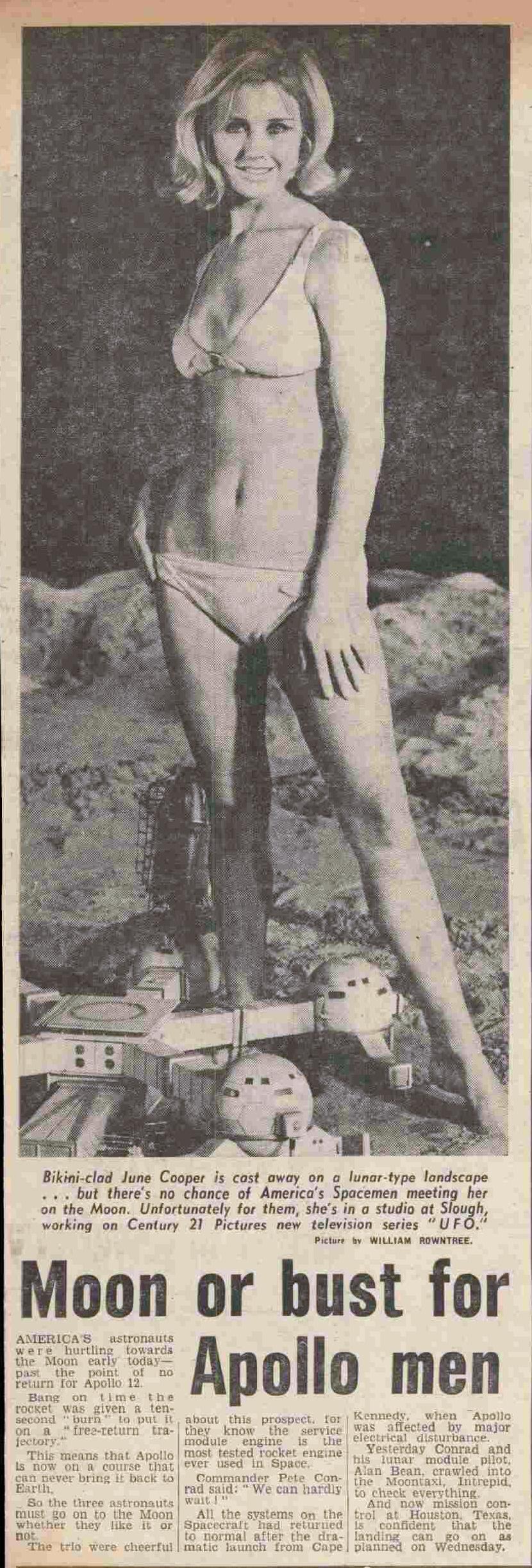 SUNDAY MIRROR June Cooper UFO 16 November 1969